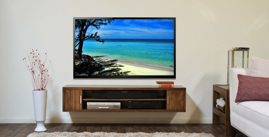 Surround sound tv mounting project